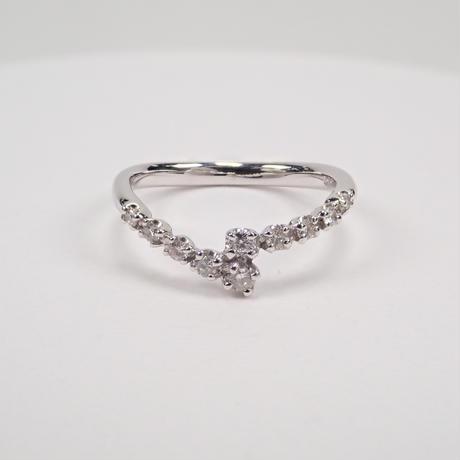 【5/26更新】K18WGダイヤモンドリング(ピンキーリング)