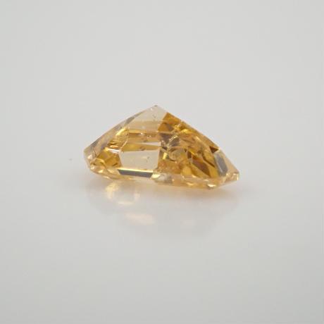 【5/7掲載】イエローダイヤモンド 0.071ctルース(FANCY INTENSE ORANGY YELLOW, SI2)