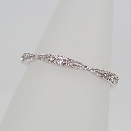 【12/24掲載】K18WGダイヤモンド0.04ct ピンキーリング