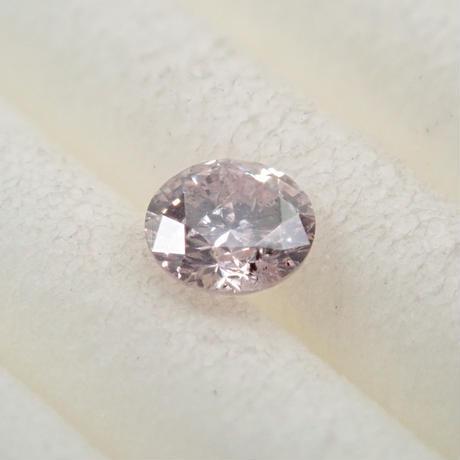 【5/8掲載】ピンクダイヤモンド 0.109ctルース(VERY LIGHT PURPLISH PINK, I1)