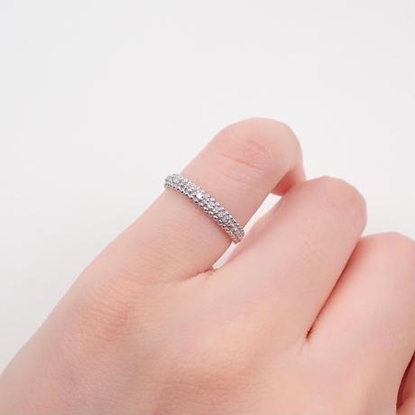 【5/1掲載】K18WGダイヤモンド0.07ct リング(ピンキーリング)