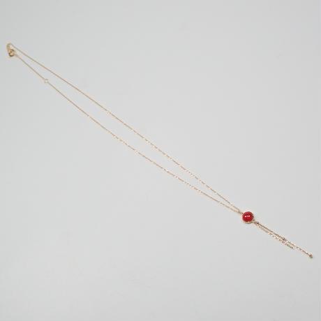 【5/22掲載】K18赤珊瑚0.43ct ペンダント(ネックレス)