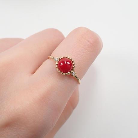 【5/26更新】K18血赤珊瑚0.85ct リング