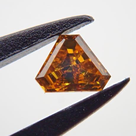 【4/11更新】オレンジダイヤモンド 0.064ctルース(FANCY DEEP YELLOW ORANGE, SI2)