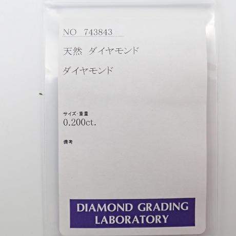 【4/7更新】スライスダイヤモンド 0.200ctルース DGL付