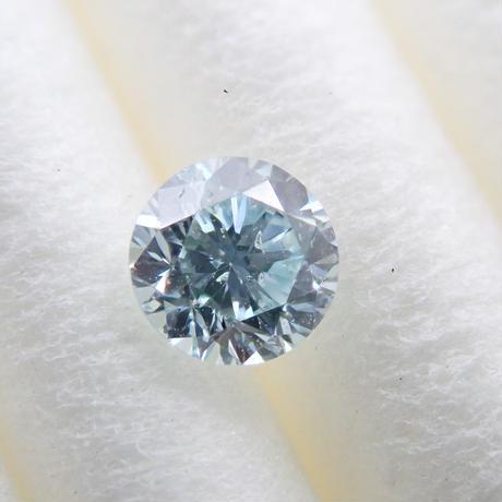【3/10掲載】アイスブルーダイヤモンド 0.131ctルース(Treted FANCY GREENISH BLUE, SI2)
