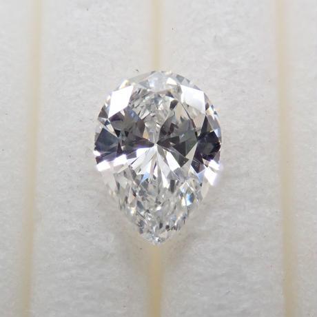 【8/9掲載】ダイヤモンド 0.303ctルース(F, SI2, ペアシェイプ)