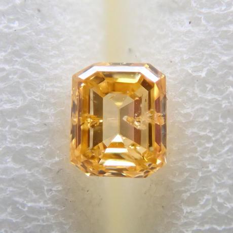 【2/14掲載】イエローダイヤモンド 0.087ctルース(FANCY INTENSE ORANGY YELLOW, I1)