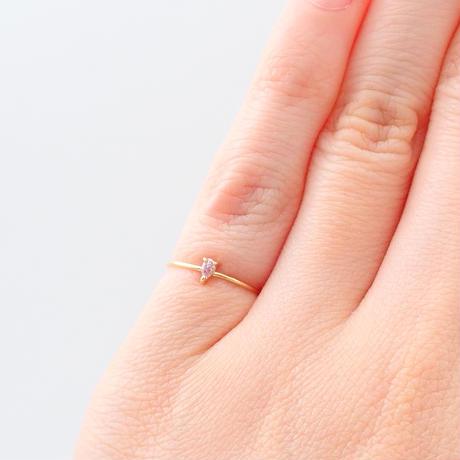 【12/23掲載】K18ピンクダイヤモンド0.040ct ピンキーリング(Fancy Puerplish Pink)