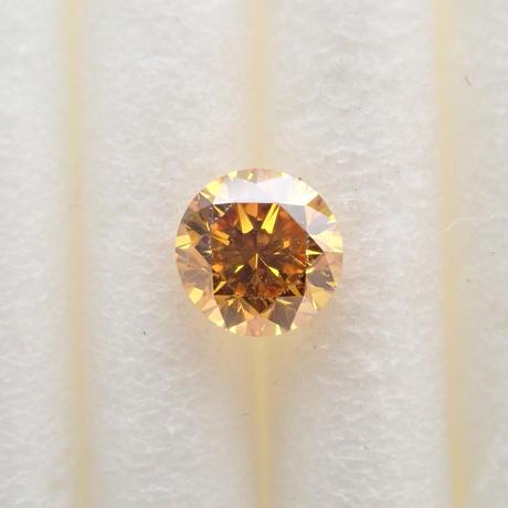 【5/11掲載】イエローダイヤモンド 0.208ctルース(FANCY DEEP YELLOW ORANGE, SI1)