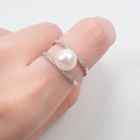 【2/22掲載】Pt900アコヤ真珠約8.1mm リング