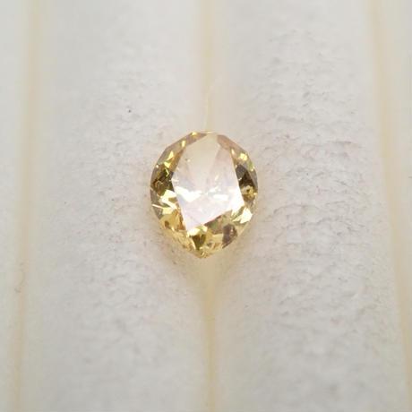 【5/8掲載】イエローダイヤモンド 0.081ctルース(FANCY DEEP YELLOW, SI2)