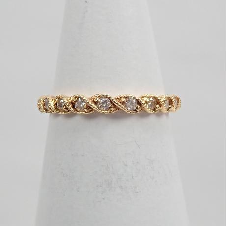 【12/24掲載】K18ダイヤモンド0.13ct ピンキーリング