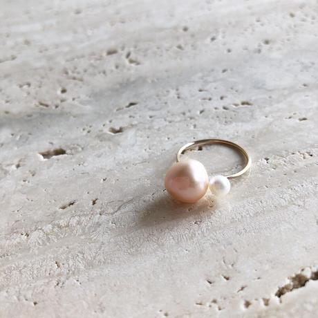 PINK + WHITE PEARL RING