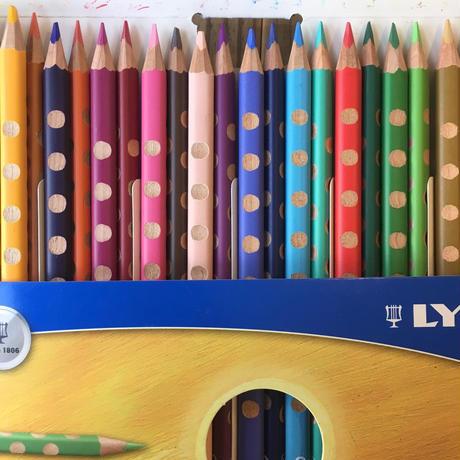 リラ 色鉛筆グルーブスリム24色セット