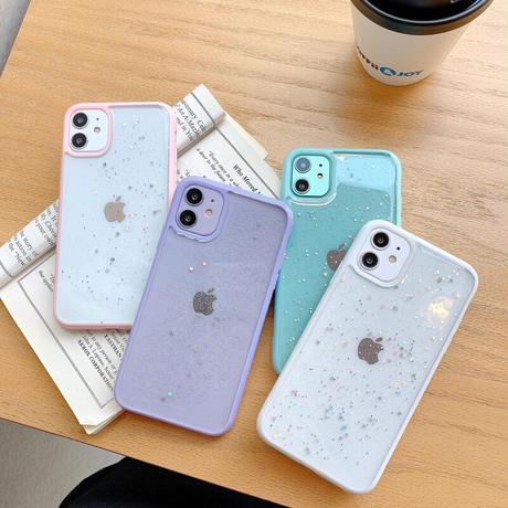 【No.178】 クリアケース ラメ柄 iPhoneケース 5種類