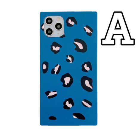【No.65】アニマル柄 レオパード柄 スクエア型 iPhoneケース 3種類