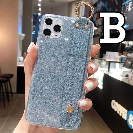 【No.177】ラメ柄 スタンドホルダー付き iPhoneケース 4種類