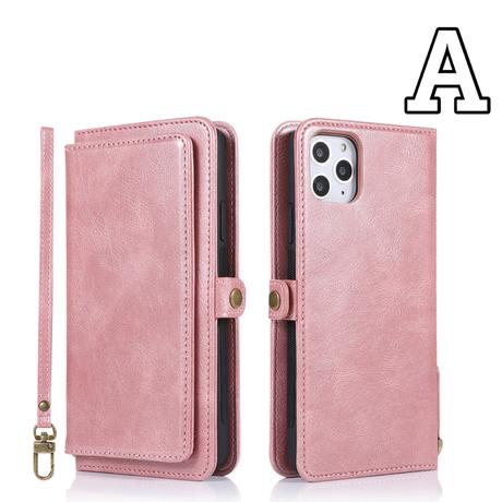 【No.311】 手帳型 革財布 カード入れ付き  iPhoneケース 6種類