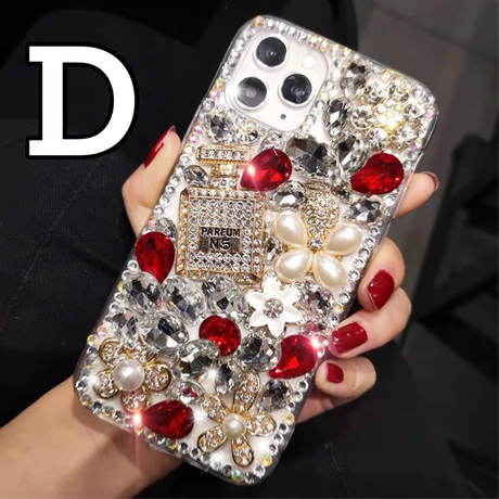 【No.107】 ラメ 花柄 ぷっくり iPhoneケース 7種類