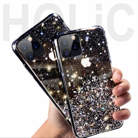 【No.190】 クリアケース ラメ柄 iPhoneケース 4種類