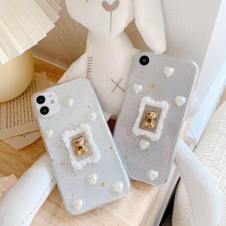【No.164】ぷっくりデザイン クマデザイン iPhoneケース