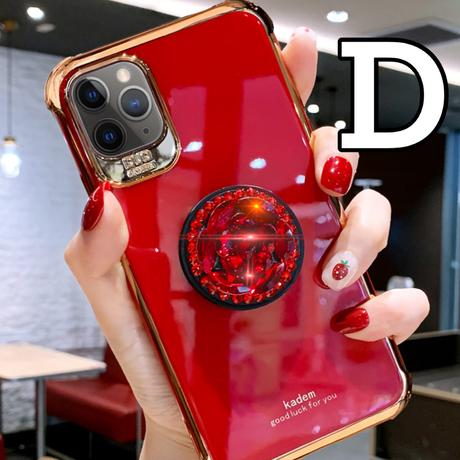 【No.28】シンプル スタンドホルダー付き  iPhoneケース 5種類