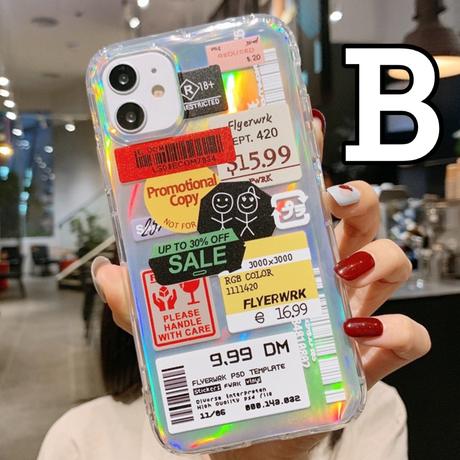 【No.69】 クリアケース パロディ バーコード iPhoneケース 2種類