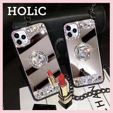 【No.113】 ミラーデザイン スタンドホルダー付き iPhoneケース