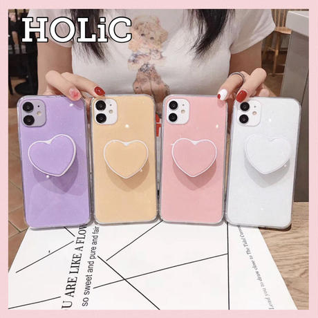 【No.184】 ハート スタンドホルダー付き iPhoneケース 4種類