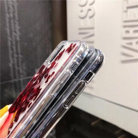 【No.167】 クリアケース ハート グリッター iPhoneケース 3種類