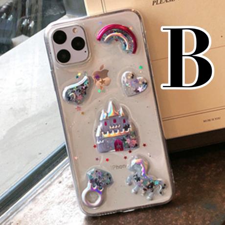 【No.210】クリアケース ぷっくりデザイン iPhoneケース 2種類
