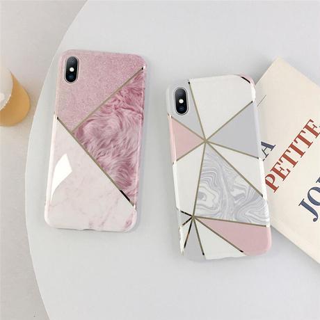 【No.199】大理石柄 iPhoneケース 6種類