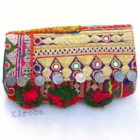 Banjara 2wayクラッチバッグ 1点物《bjc5》zariミラーワーク刺繍ヴィンテージテキスタイル