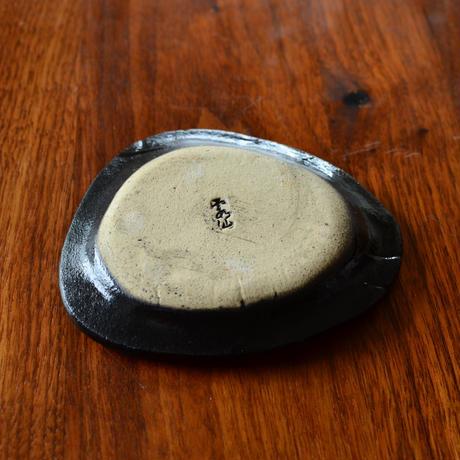 黒織部面取り豆皿