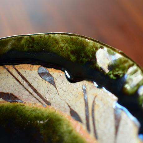 織部面取り楕円鉢