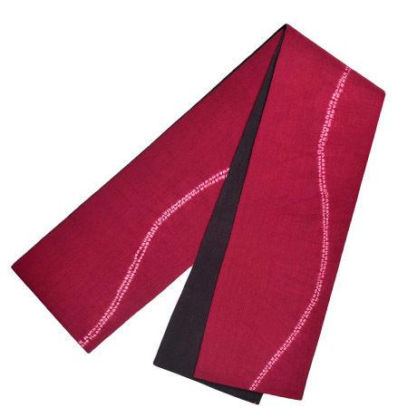 半巾帯 波絞り
