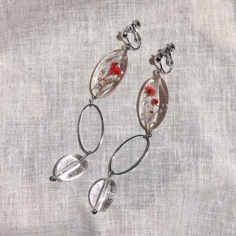 flower dome earring