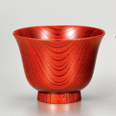 欅 背高かゆ椀 赤摺 SO-0300