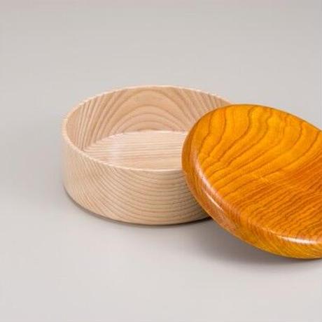 Colorful BOX 蓋イエロー/本体シャイン SJ-0113 お弁当にお料理の盛り込みに最適な木製のBOXです。