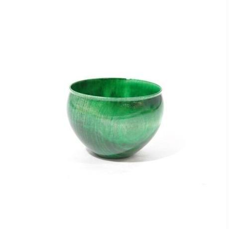 木製栃材を使用したカラフルなぐい呑みです Ochoko Colorful グリーン SX-0655