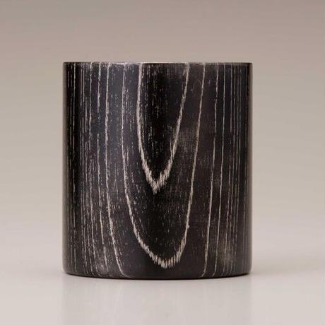 プラチナを施した欅の漆塗マグカップです。 Keyaki Mug Cup ブラック/Platinum SX-0600