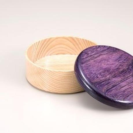 Colorful BOX 蓋パープル/本体シャイン SJ-0116 お弁当にお料理の盛り込みに最適な木製のBOXです。