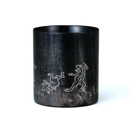 マグカップカラフル ブラック 鳥獣戯画 銀 SX-498TGS [マグカップ]