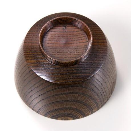 欅3.7胴張汁椀 茶摺 SO-0472