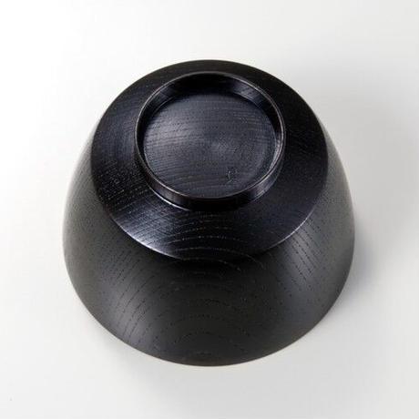 欅3.7胴張汁椀 黒摺 SO-471