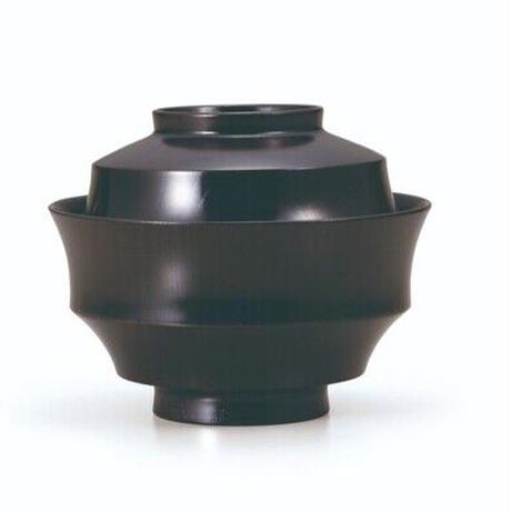欅4.3駒形煮物椀 黒摺  欅の木目の美しい煮物椀です。SO-0538