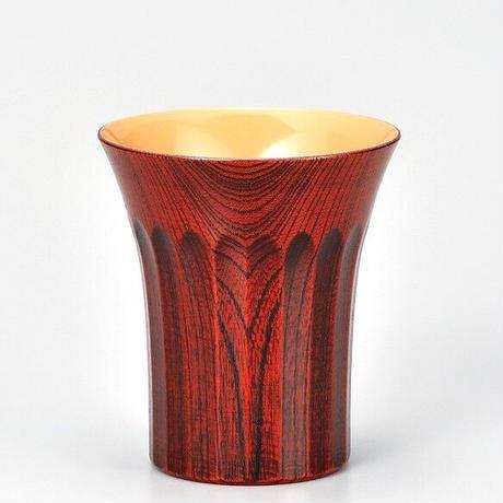欅 菊彫 焼酎杯 茜白漆 SX-292