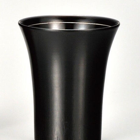 桜2.6冷酒カップ 黒摺 銀線 SX-245