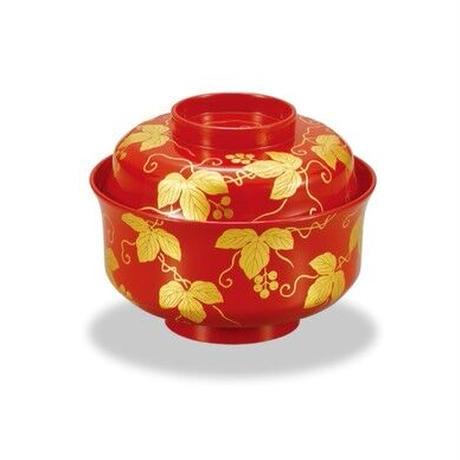 4.5御殿型煮物椀 金箔蔦 sr-054 上質な水目桜を使用した高級割烹漆器です。
